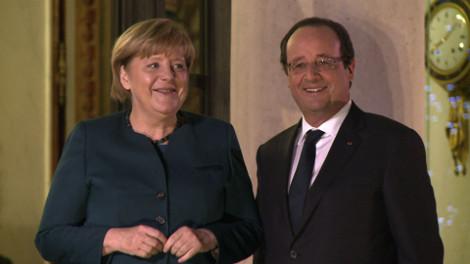 Merkel et Hollande sur la même ligne