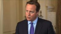 Cameron avec les Chrétiens persécutés