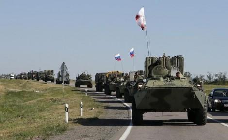 colonne blindes russes Ukraine