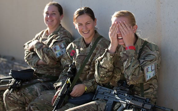 Armée britannique femmes première ligne