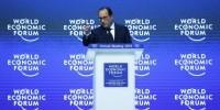 A Davos, François Hollande assure que la France agit pour réduire ses handicaps