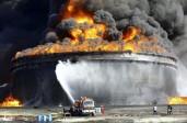 La photo: Incendie du terminal pétrolien libyen d'Al-Sedra