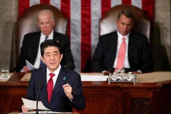 Etats-Unis Shinzo Abe Congres remords Japon Seconde guerre mondiale
