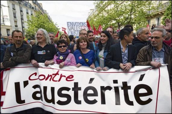 La France manifeste contre l'austérité