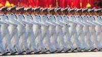 La photo: la garde d'honneur chinoise à Moscou pour la première fois