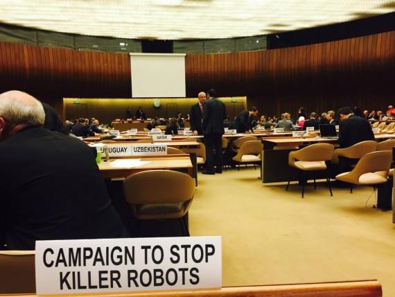 robots tueurs ONU systèmes armes létales autonomes réunion