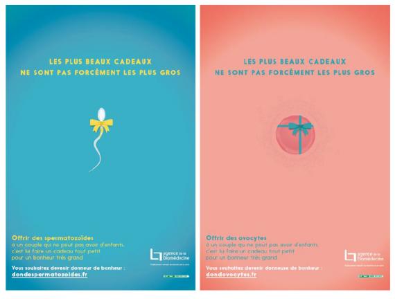 Agence de biomédecine des spots à la radio pour inciter au don de sperme et d'ovules