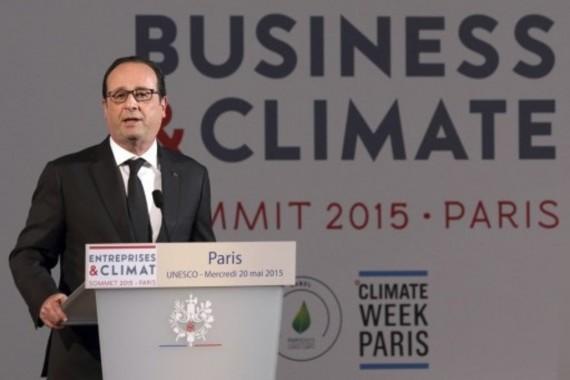 Réchauffement climatique des dirigeants d'entreprise réunis à Paris pour réclamer un prix élevé du carbone