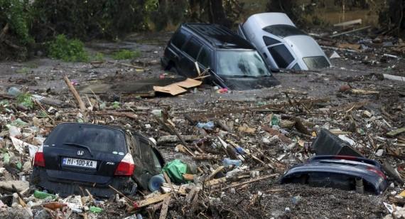 Innondations Tbilissi georgie