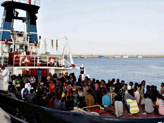 Nombre migrants cotes libyennes
