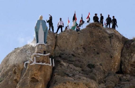 Syrie statue Sainte Vierge Maaloula