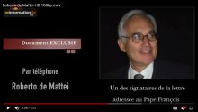 Correctio Filialis : interview exclusive de Roberto de Mattei à reinformation.tv : « l'Eglise traverse une crise sans précédent »