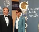 Dîner annuel de la Grande Loge de France avec Jacques Toubon,  Abdennour Bidar et Najat Vallaud-Belkacem