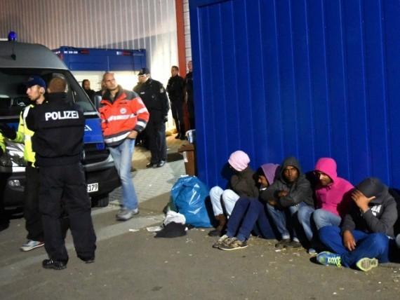Migrants police allemande affrontements masse
