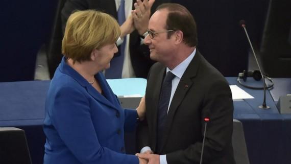 Parlement européen Merkel Hollande plus Europe