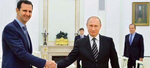 Poutine reçoit homologue syrien Assad