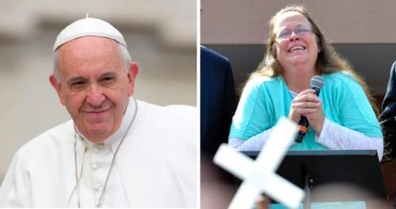 pape François rencontre Kim Davis mariage homosexuel