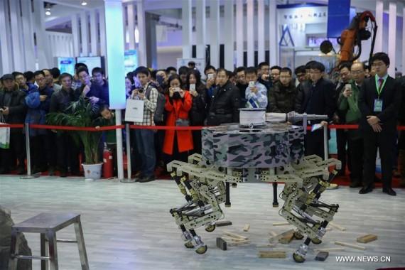 Chine robots anti-terroristes armés