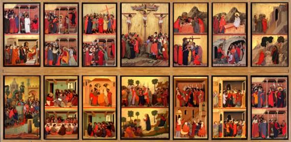 Maesta Passion Christ Chef Oeuvre Peintre Duccio Film expérimental