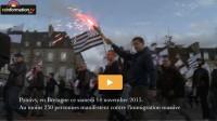 Manifestation contre l'immigration en Bretagne.24 heures après les attentats de Paris, les  Bretons descendent dans la rue
