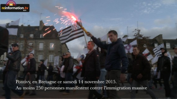 Manifestation contre immigration Bretagne