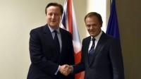 Le président du Conseil européen Donald Tusk fait face au Brexit