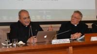 Mgr Marcelo Sánchez Sorondo (à gauche) et le P. Robert Sirico (à droite) lors de la conférence à l'Acton Institute le 3 décembre dernier.