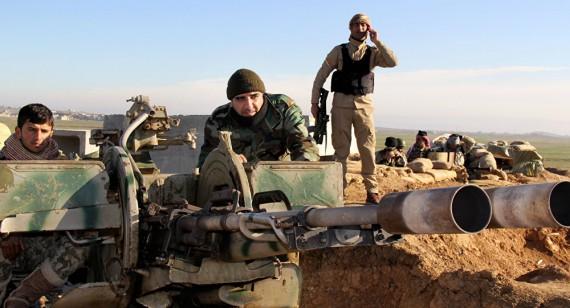 troupes américaines combats sol Etat islamique kurdes peshmergas