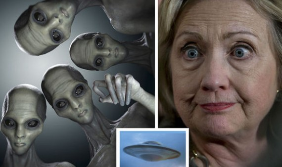 Hillary Clinton extra terrestres ovni