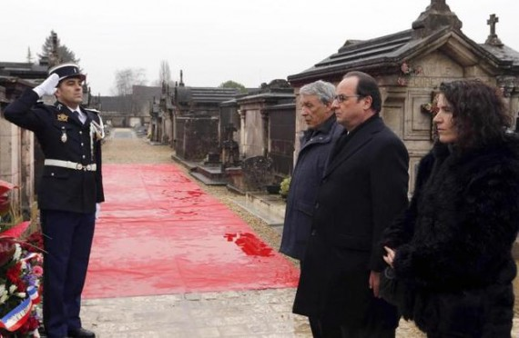 Hommage Hollande Mitterrand