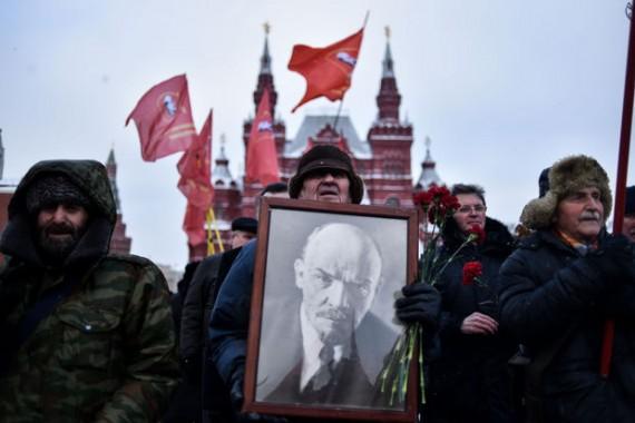 Poutine Lénine exploser Russie 1991