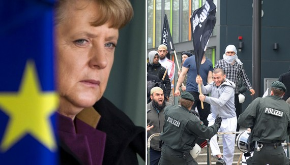 Migrants politique Merkel islam djihad