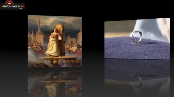 Anneau Jeanne Arc retour France Puy Fou Joubert Ouches