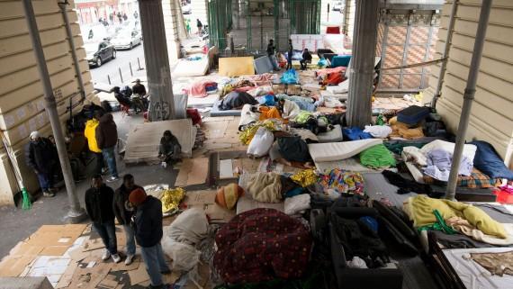 Camp migrants évacué Paris