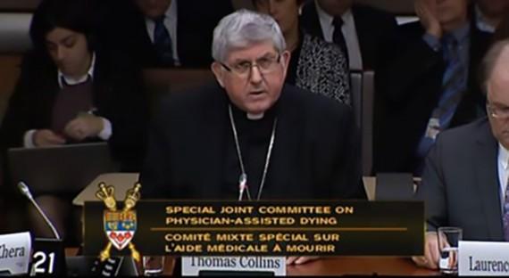 Canada euthanasie cardinal Collins Comité