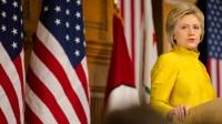 Hillary Clinton lors de son discours à l'université de Stanford.