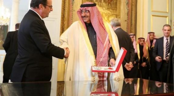 Hollande décore Légion honneur ministre Intérieur saoudien