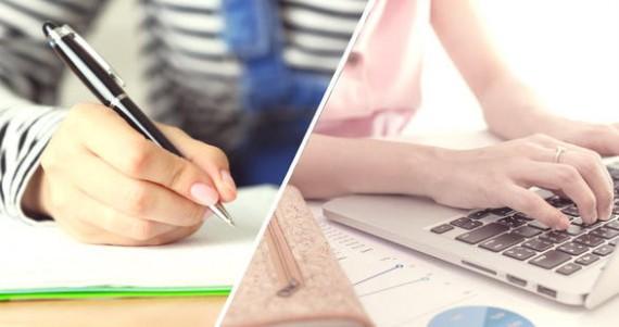 Prise notes écrit supérieur clavier ordinateur mémorisation