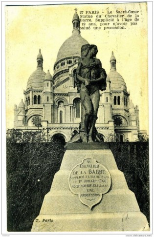 chevalier de la Barre anniversaire exécution commémorations anticatholiques