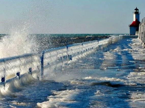 Grands Lacs eau monte changement climatique