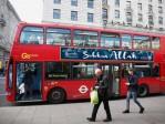 Les célèbres bus rouges de Londres proclament la «gloire d'Allah»