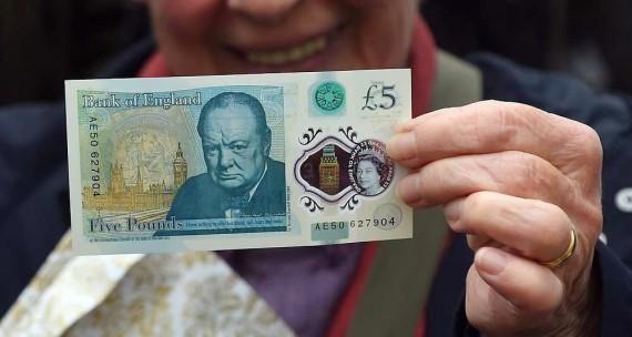 Angleterre Billet Plastique Argent Liquide Papier Monnaie
