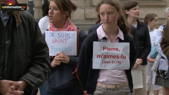Institut Christ Roi Rennes manifestation fideles