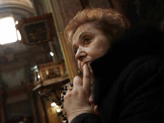 migrants église chrétiens prier silence Vintimille