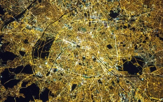 Paris vu Tim Peake Station spatiale internationale photo