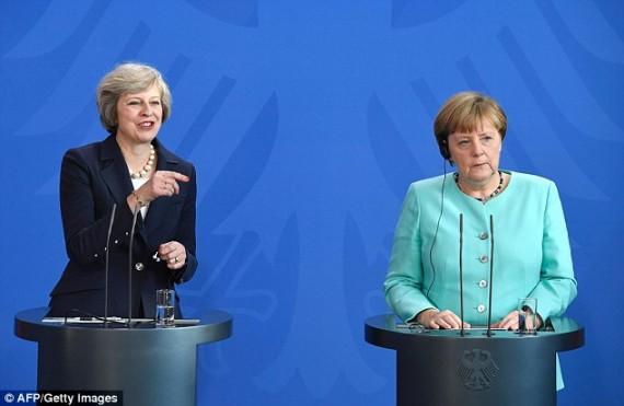 Theresa May Angela Merkel Brexit
