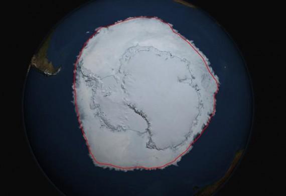 glace Océan Antarctique étendre