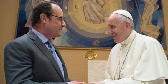 François Hollande laïcité pape François rencontre