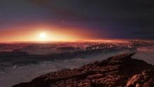 La planète Proxima b imaginée par un artiste.