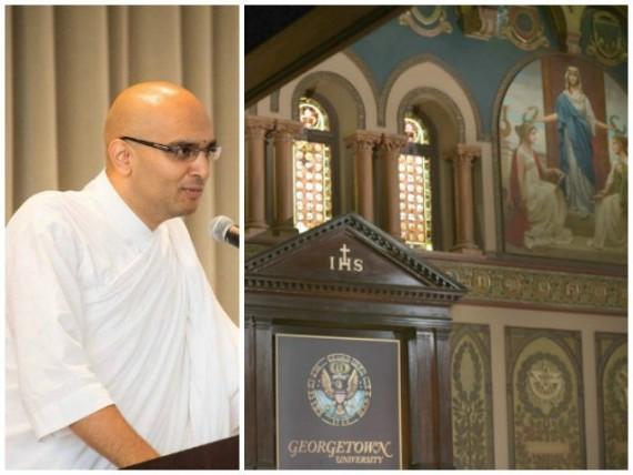 université jésuite Georgetown chapelain hindou Etats Unis